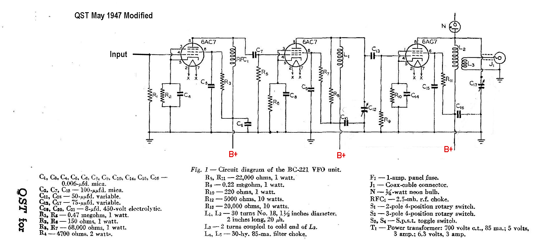 Bc221pg2 Onetube Transmitter Schematic Diagrams And Circuit Descriptions Click To Enlarge