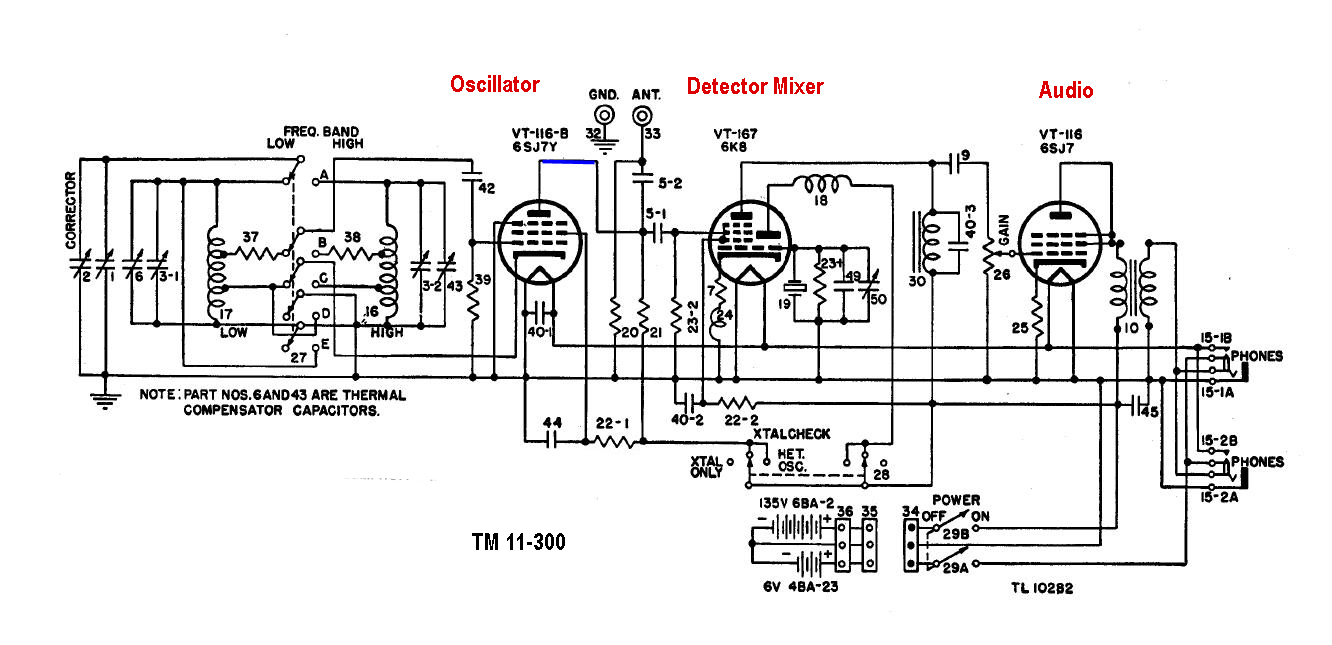 Bc 221 Transceiver Circuit Besides Crystal Oscillator On Dc Generator Schematic Click To Enlarge