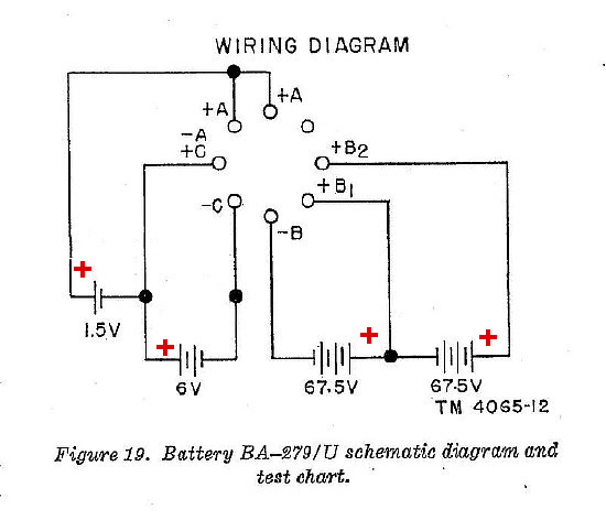 the battery wiring diagram can look daunting  basically the circuit is  comprised of 3 battery sections  the sections are: a low voltage 1 5 volts  filament