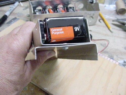 PRC-6 Battery Box on 9 volt power supply, 9 volt battery cover, 9 volt speaker, 9 volt switch, 9 volt battery terminal,